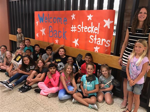 Steckel Stars meet their new Principal