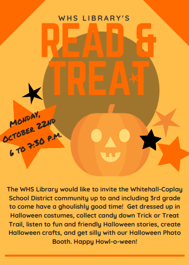 WHS Library Read and Treat: Oct. 22