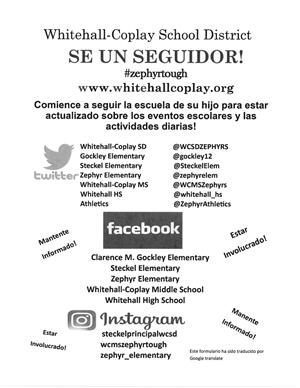 Social Media Follow us (Spanish)